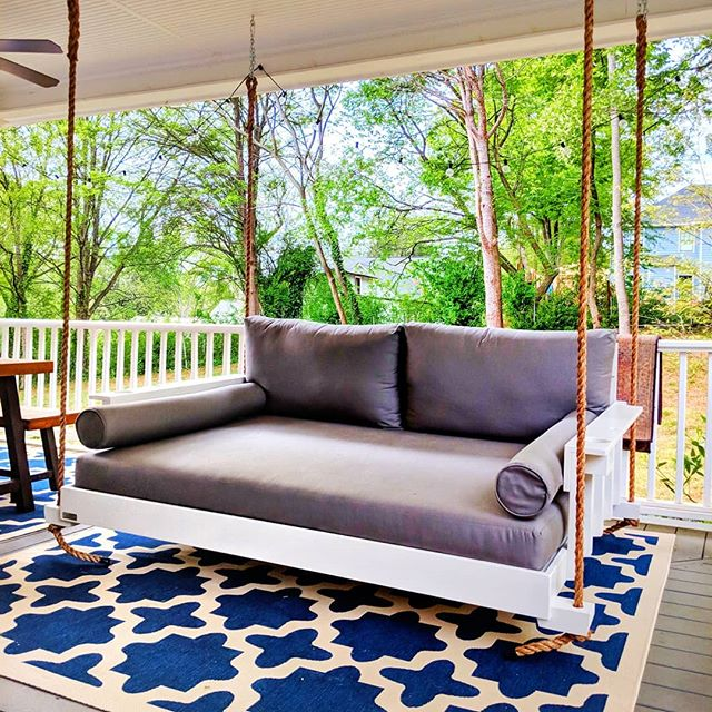 Turn Your Porch Into An Extra Bedroom With Our Full Size Bedswing.  #fouroakbedswings