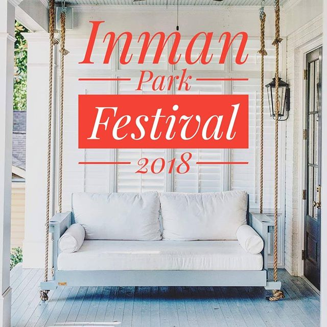 Come see us @inmanparkfest this Saturday and Sunday!  #fouroakbedswings @inmanpark