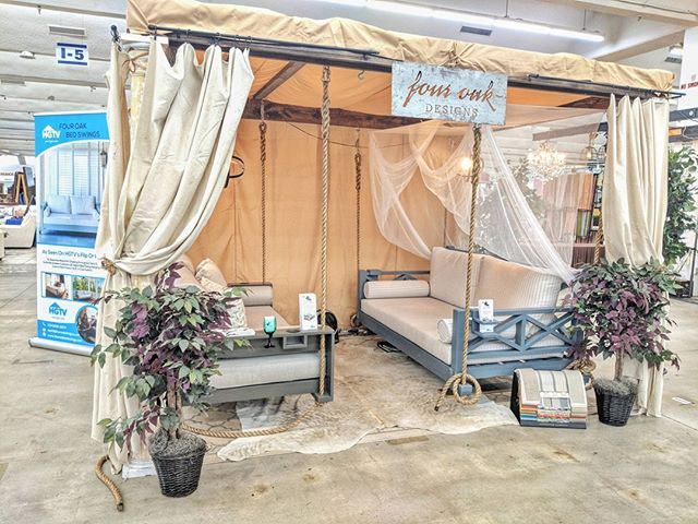 Come Check Us Out In Atlanta This Weekend.  Only 1 Swing Left! #fouroakbedswings http://ow.ly/HUdV30kX6ni . #bedswing #atlmkt #hangingbed #interiordesign #outdoorliving #marketdays #porchenvy #southernliving #americasmart #madeinthesouth #