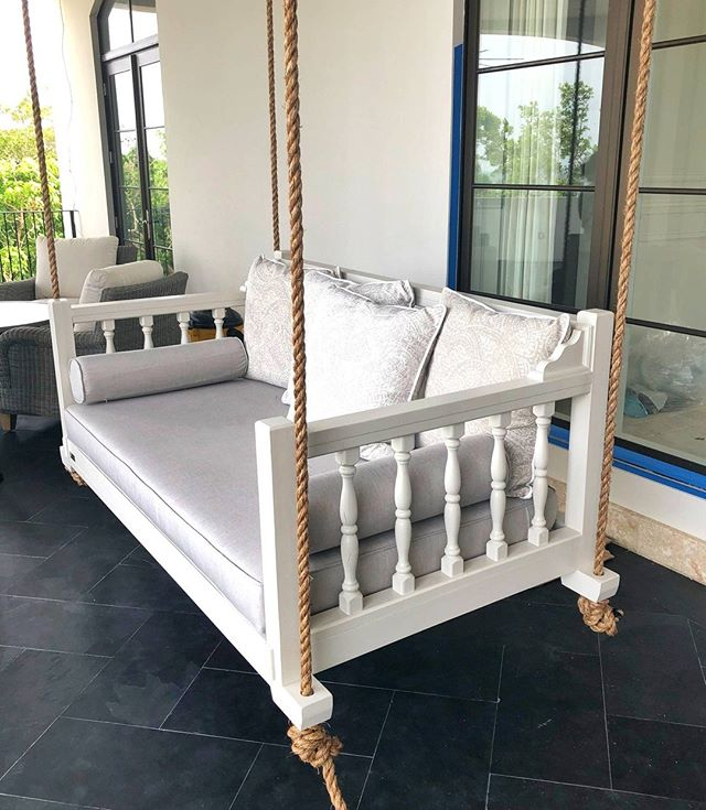 Our Twin Size Madison Bed Swing Made For The @ladcoresortdesigngroup . #fouroakbedswings #bedswing #hangingbed #resortdesign #interiordesign #outdoorliving #ladcoresortdesigngrouo #southernliving