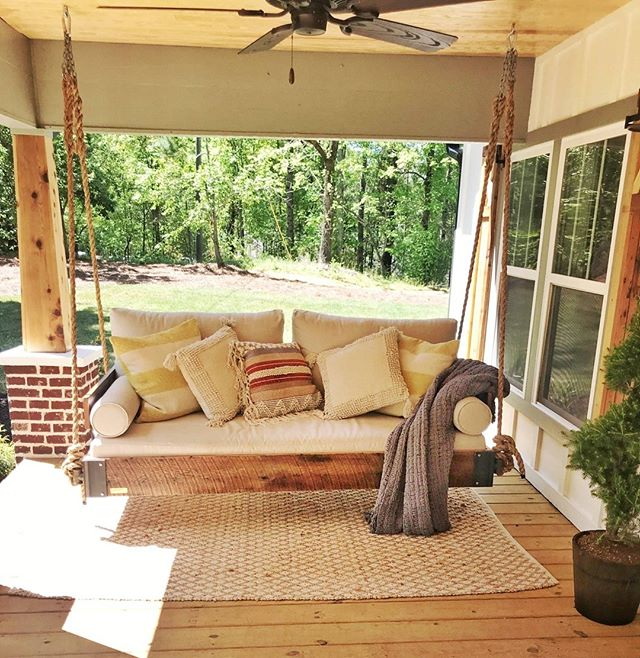 Coming to your television this fall! . #fouroakbedswings #backporchsittin #hangingbed #interiordesign #madeinthesouth #porchswing #design #bedswing #porchenvy #outdoorlivingspace #southernliving