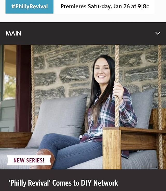 So Grateful To Have Been A Part Of A Great New Show On @diynetwork Called Philly Revival! . . #fouroakbedswings #bedsaremadeforswinging @hestiaphilly #outdoorlivingspace #love #diy #porchswing #porchenvy #bedswing #hangingbed