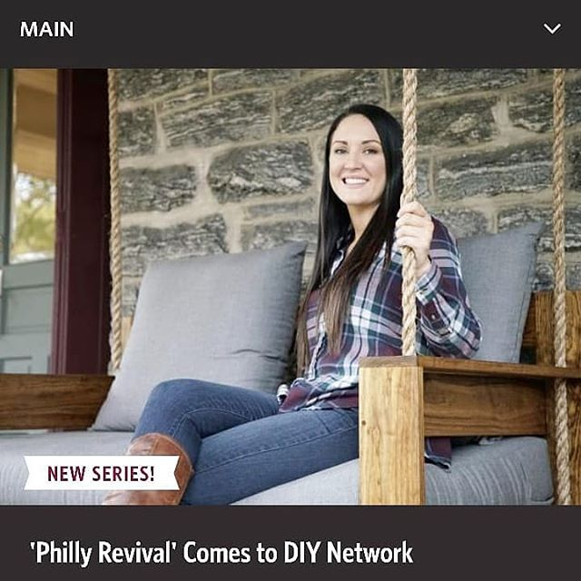 Check Out Philly Revival On @diynetwork This Saturday Night.  You'll See One Of Our Swings! . #fouroakbedswings #bedsaremadeforswinging #love #madeinamerica #interiordesign