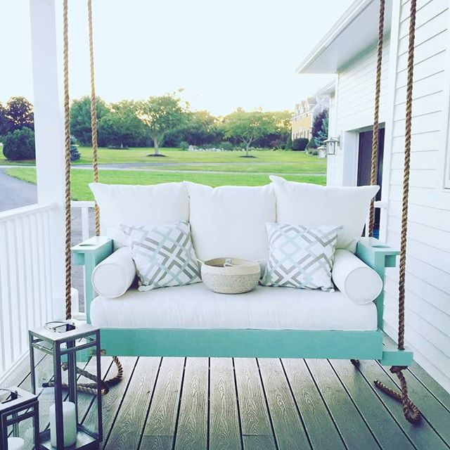 It's Still A Good Time To Save On A Bed Swing!  We Are Still Offering Our $300 Discount!! See Our Website For Details. .  #bedsaremadeforswinging #fouroakbedswings #outdoorlivingspace #design @sewcialite_nh #newhampshire #bedswing