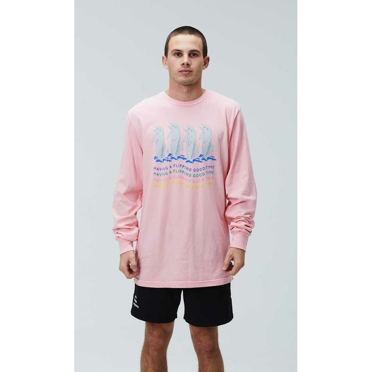 DUVIN // FLIPPING GOOD TIME LONG SLEEVE // PINK - Las Olas