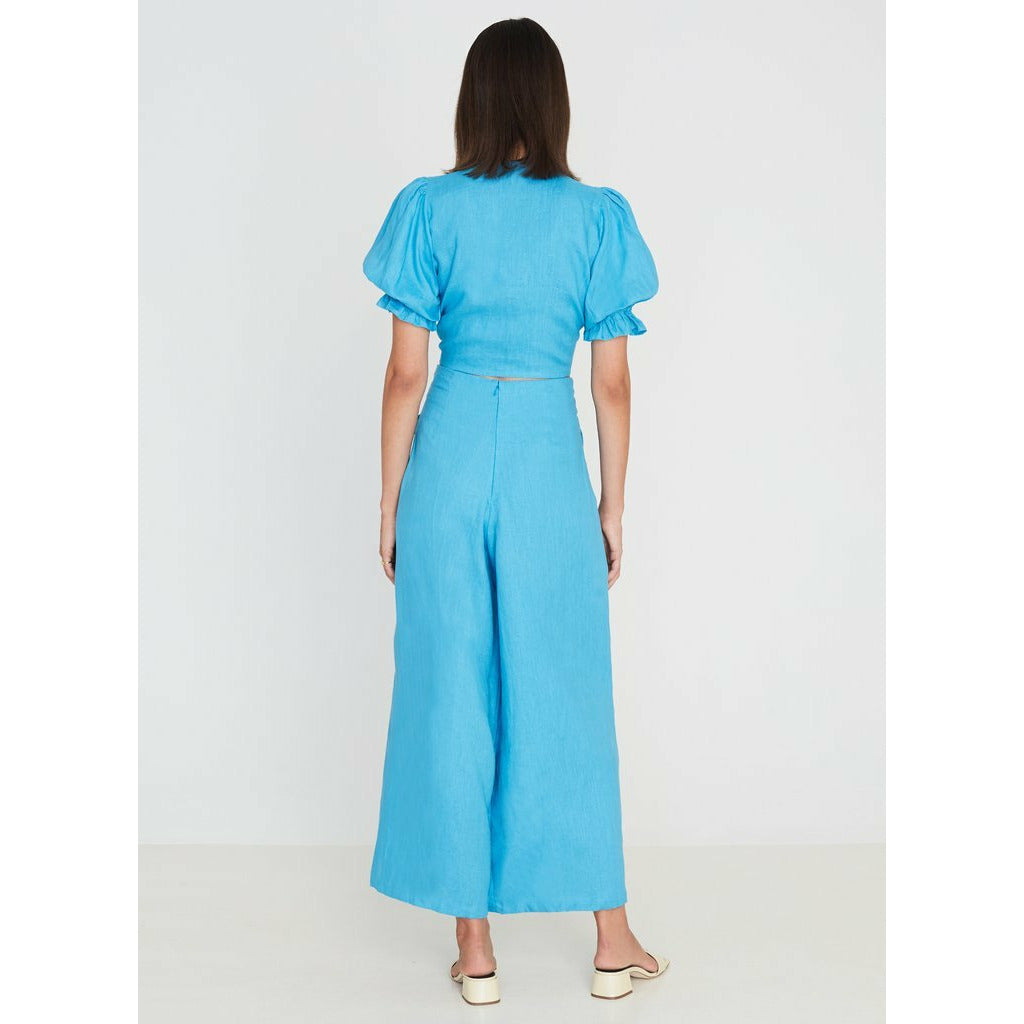 FAITHFULL THE BRAND // MERIDIAN WIDE LEG PANTS // BLUE TOPAZ - Las Olas