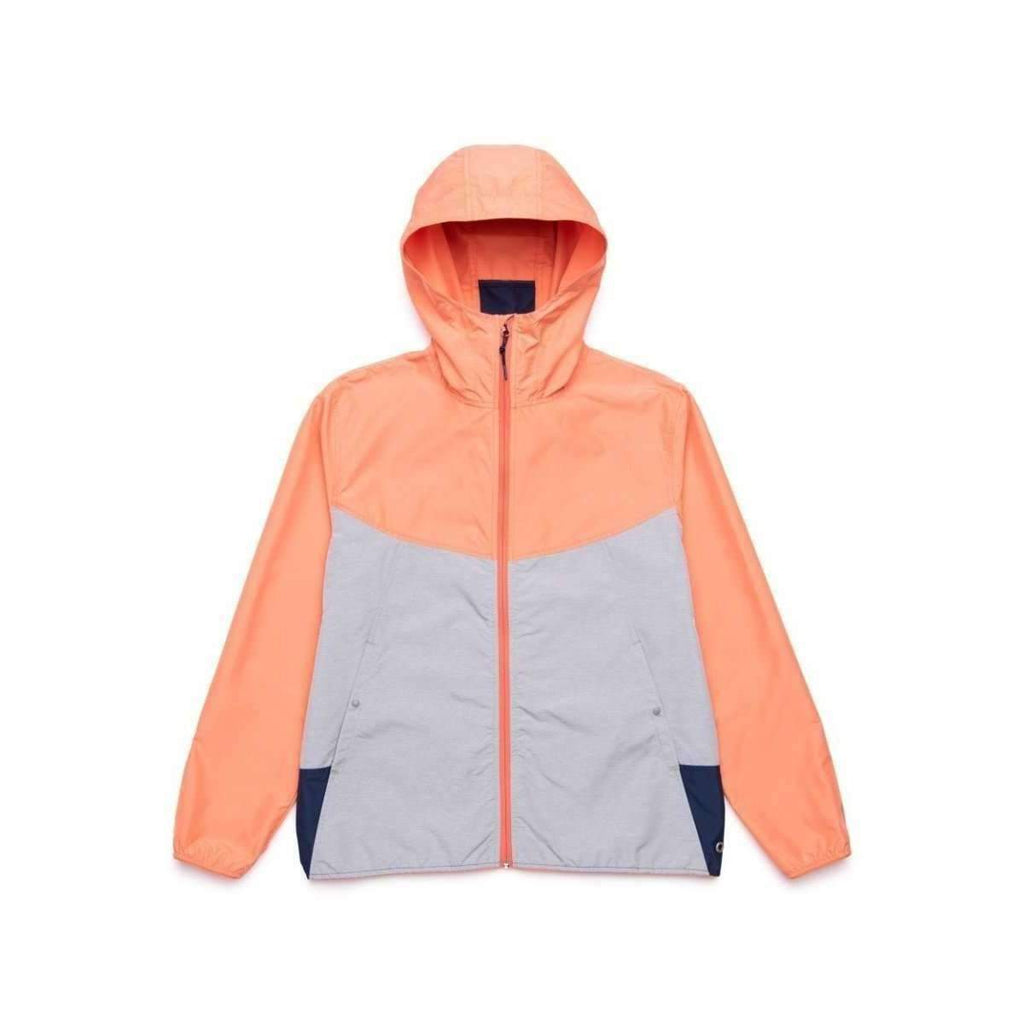 HERSCHEL // VOYAGE WIND JACKET // CARNELIAN/ LIGHT GRAY CROSSHATCH - Las Olas