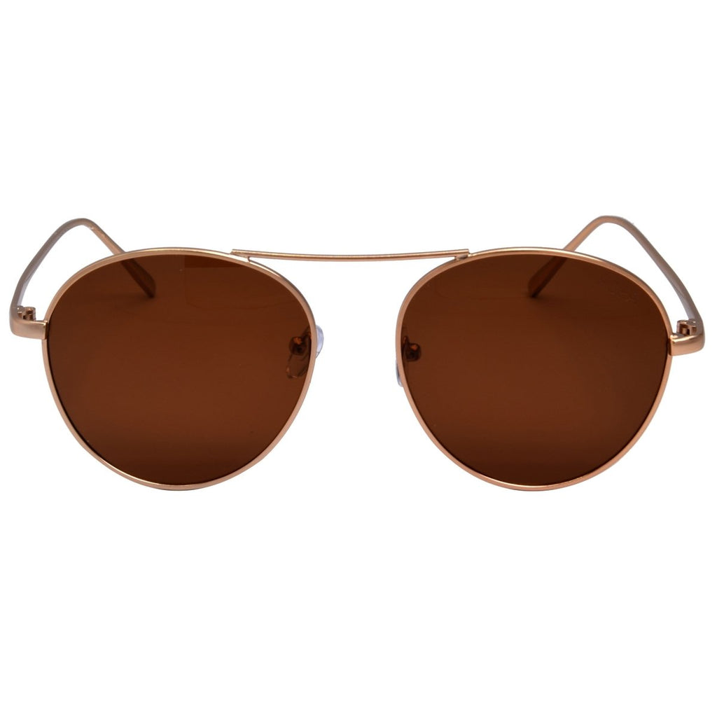 I-SEA // AHOY SUNGLASSES // MATT GOLD + BROWN POLARIZED LENS - Las Olas