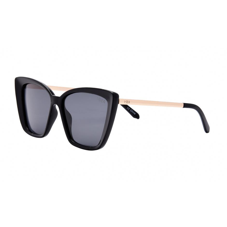 I-SEA // ALOHA FOX SUNGLASSES // BLACK - Las Olas