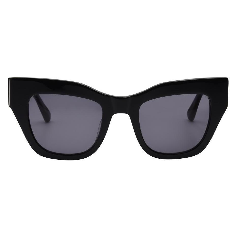 I-SEA // DECKER SUNGLASSES // BLACK + SMOKE POLARIZED LENS - Las Olas