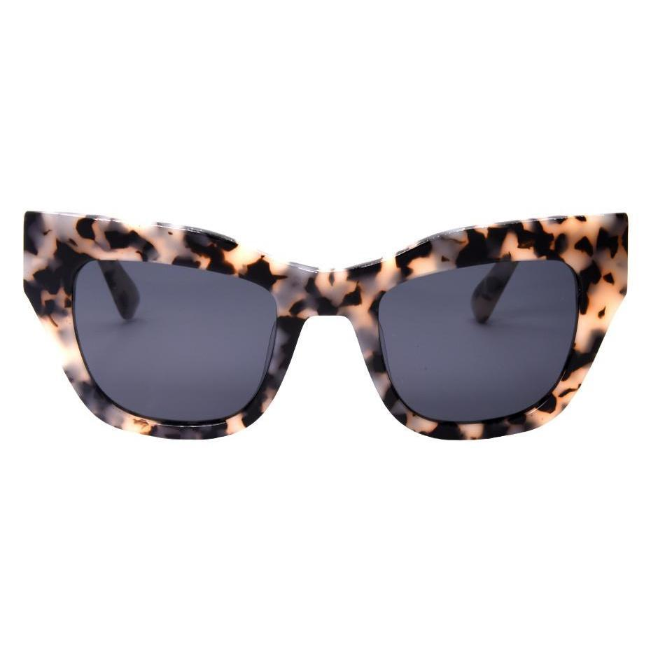 I-SEA // DECKER SUNGLASSES // SNOW TORT + SMOKE POLARIZED LENS - Las Olas
