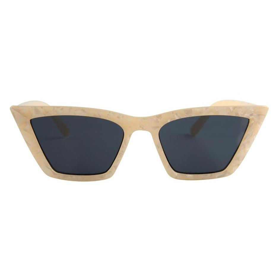 I-SEA // ROSEY SUNGLASSES // CREAM + SMOKE POLARIZED LENS - Las Olas
