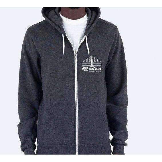 LAS OLAS // ZIP HOODIE // HEATHER GREY - Las Olas