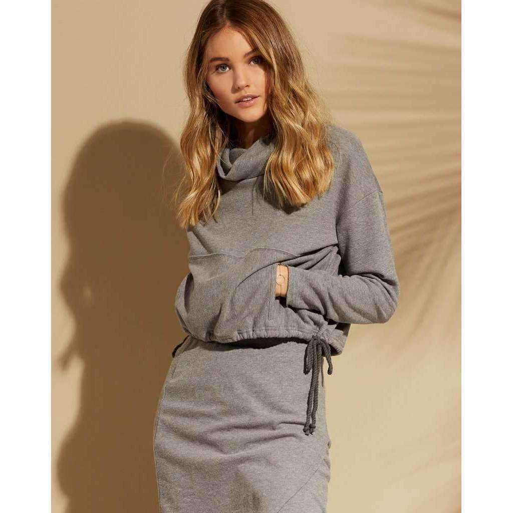 L*SPACE // CLAIRE PULLOVER SWEATSHIRT // HEATHER GREY - Las Olas