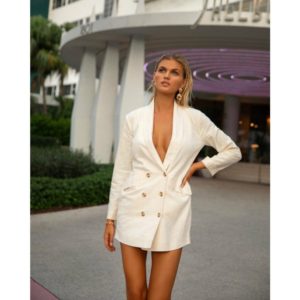 L*SPACE // JENNA DRESS // CREAM - Las Olas