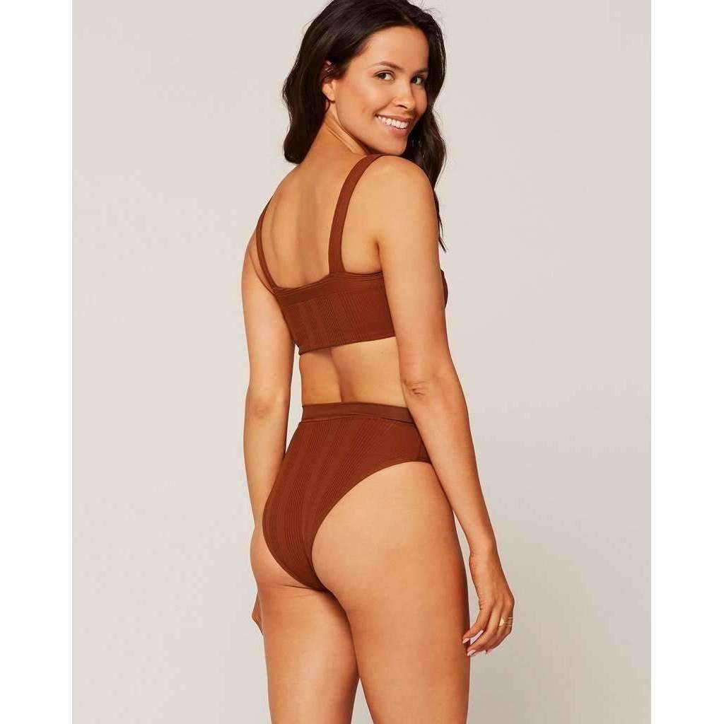 L*SPACE // POINTELLE RIB FRENCHI BOTTOM BITSY // TOBACCO - Las Olas