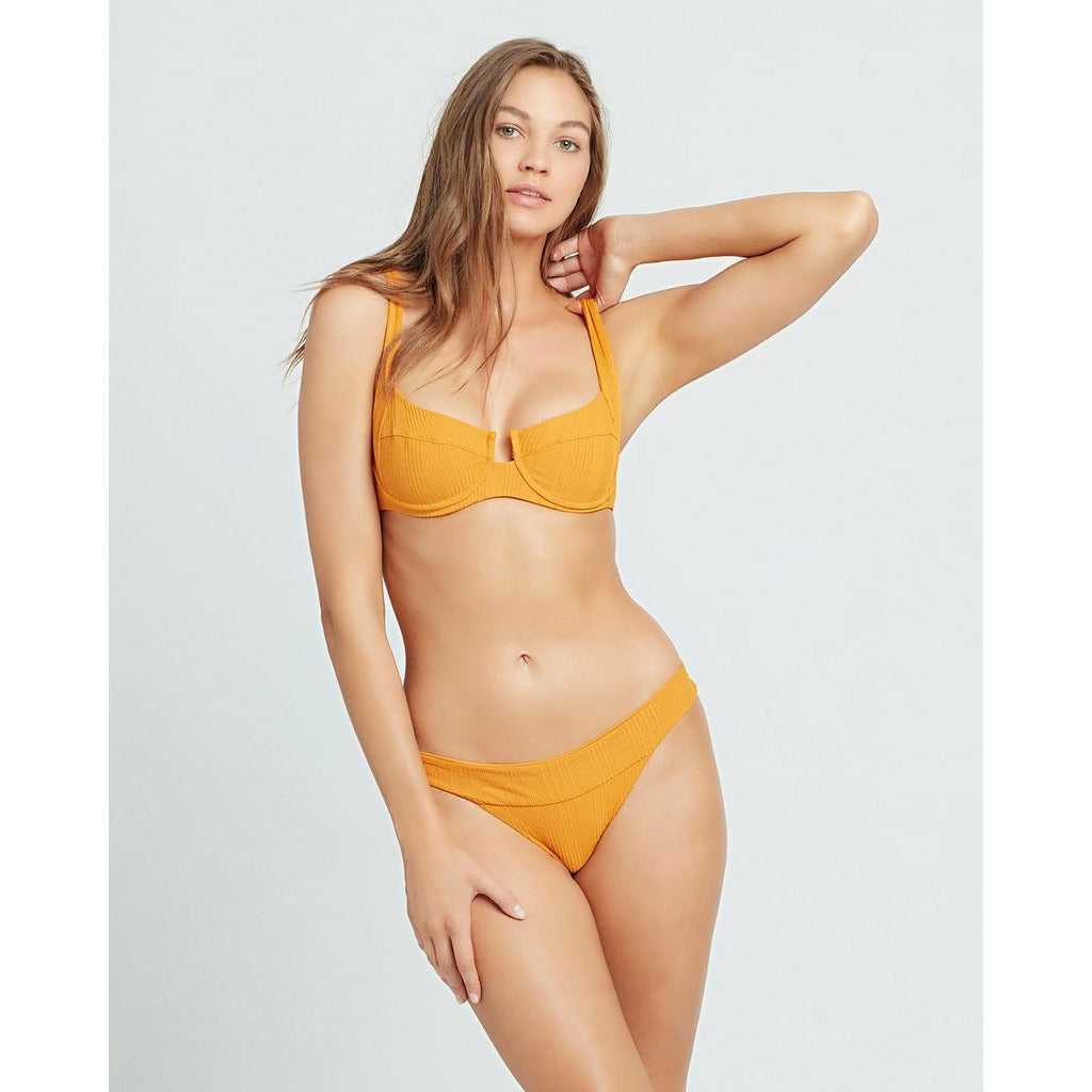 L*SPACE // POINTELLE RIBBED CAMELLIA TOP // MANDARIN - Las Olas