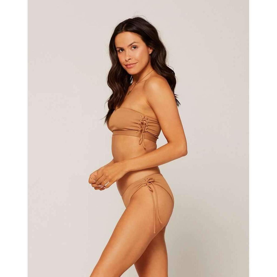 L*SPACE // RIBBED BESTIE BOTTOM // CAMEL - Las Olas