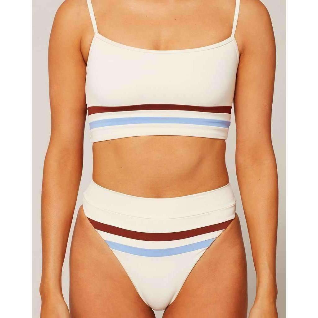 L*SPACE // WILSON BOTTOM // CREAM-TOBACCO-PERI BLUE - Las Olas
