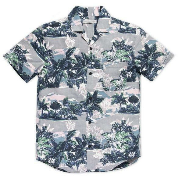 OUTERKNOWN // BBQ SHIRT // GREY WINDY PALMS - Las Olas