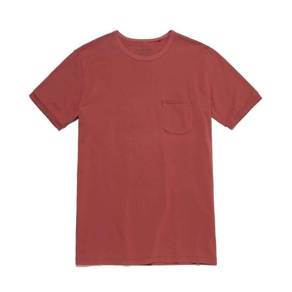 OUTERKNOWN // SOJOURN POCKET TEE // MINERAL RED - Las Olas