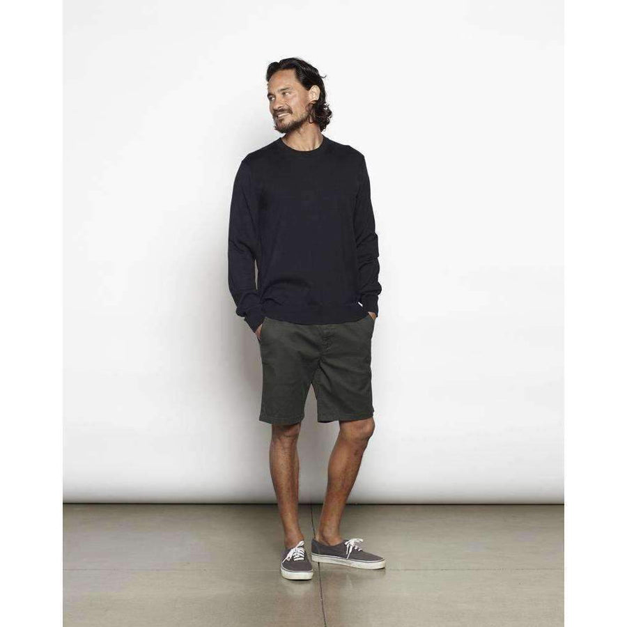 OUTERKNOWN // T-SHIRT SWEATER // PITCH BLACK - Las Olas