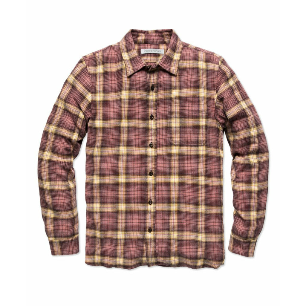 OUTERKNOWN // TRANSITIONAL FLANNEL // MINERAL RED MARIN PLAID - Las Olas