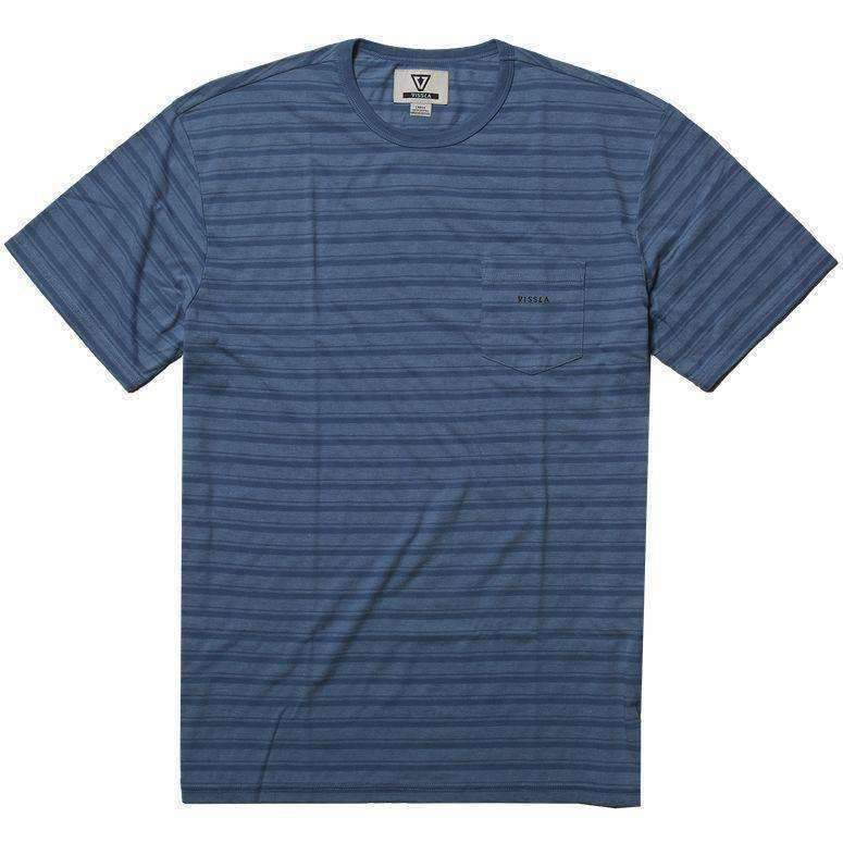 VISSLA // TRIO SS POCKET TEE // HARBOUR BLUE HEATHER - Las Olas