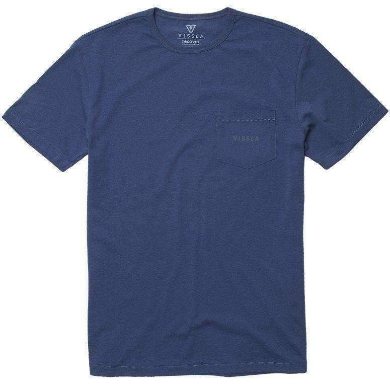 VISSLA // VINTAGE VISSLA UPCYCLED TEE // DARK DENIM HEATHER - Las Olas