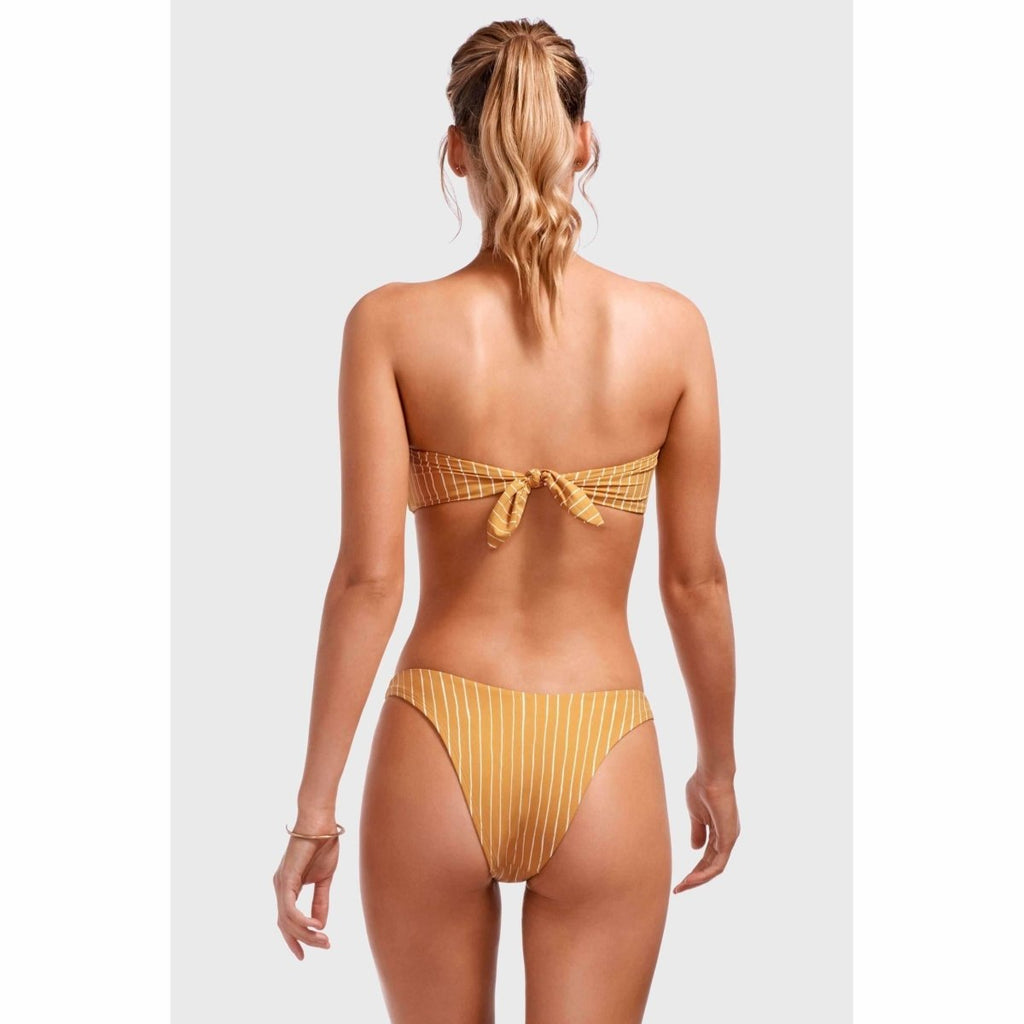 VITAMIN A // CALIFORNIA HIGH LEG BOTTOM // DORADA STRIPE - Las Olas