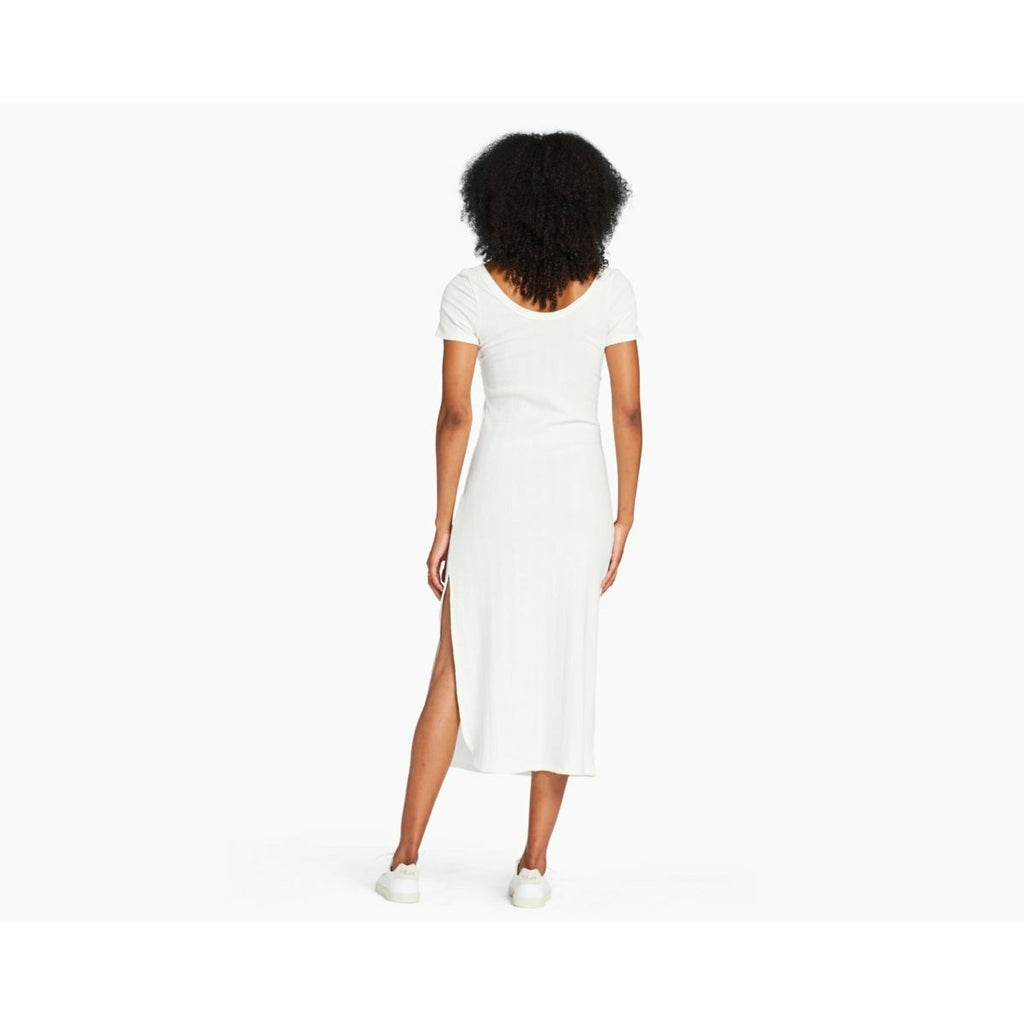 VITAMIN A // CATALINA TEE DRESS // WHITE ORGANIC RIB - Las Olas