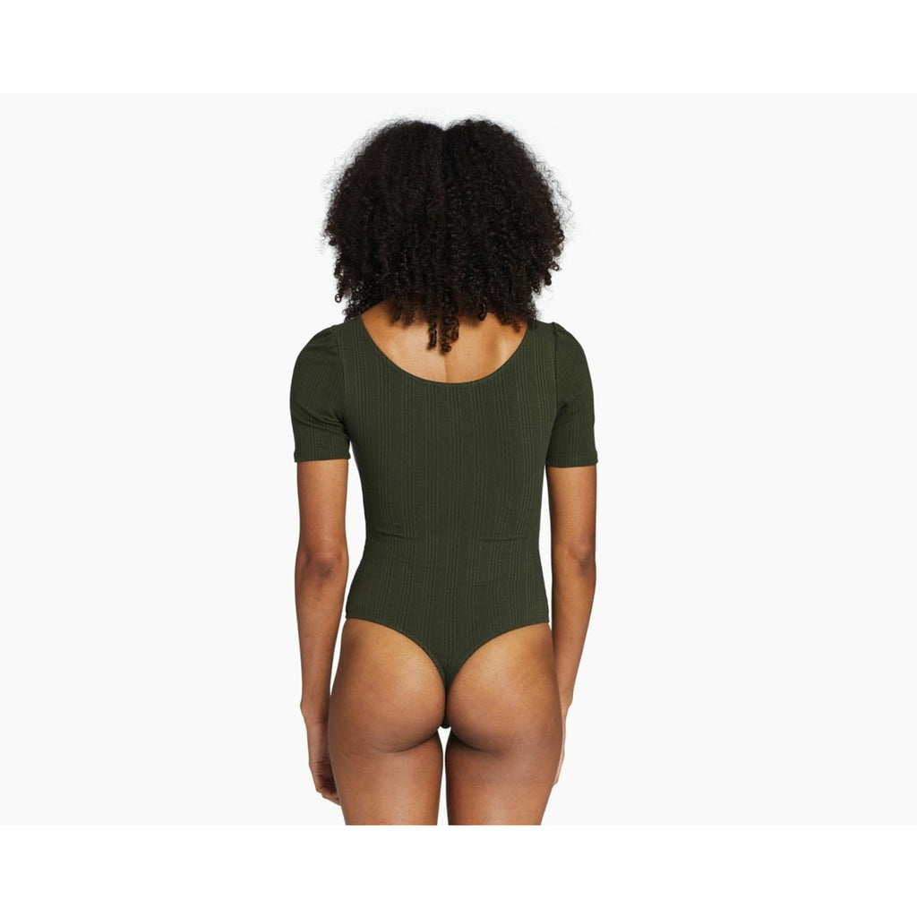 VITAMIN A // WEST BODYSUIT // FOREST ORGANIC RIB - Las Olas