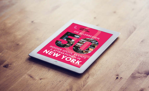 Die TOP 50 besten Attraktionen, Insider-Spots und Events in NYC - interaktives e-Magazin