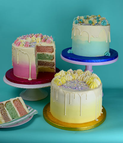 Pastel Ombre Cakes