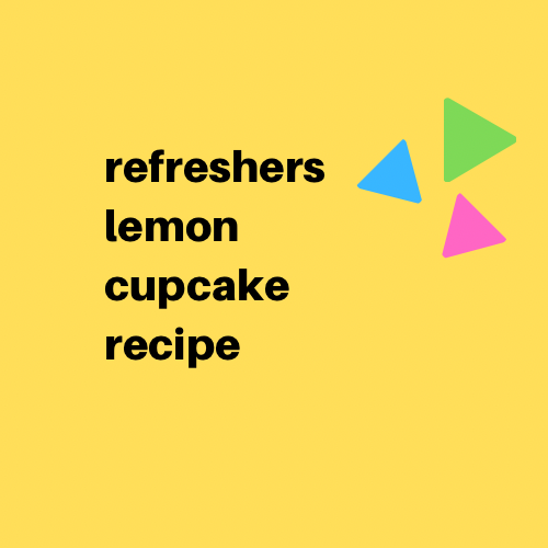 Refreshers Lemon Cupcakes - Digital Download
