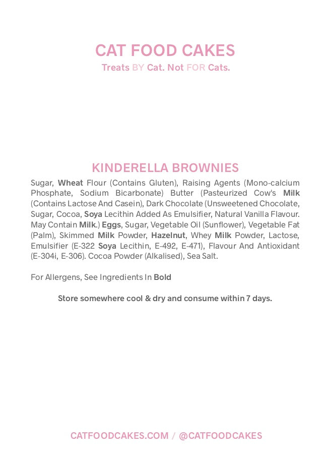 Kinderella Hazelnut Brownies