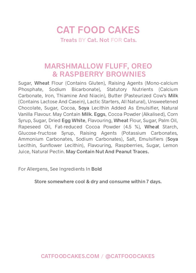 Marshmallow Fluff, Oreo & Raspberry Brownies