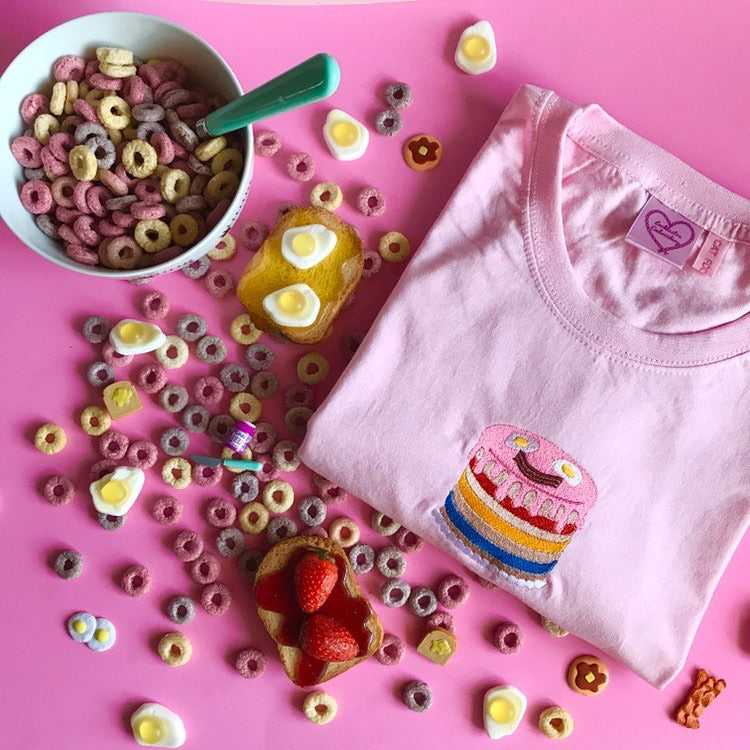 Cat Food Cakes x Lacklustre Embroidery T-Shirt