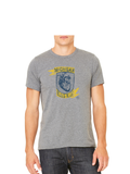 Michigan Bleed Blue T-Shirt - Deep Heather Grey