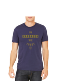 Michigan Football T-Shirt In Harbaugh We Trust - Blue