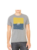 Maize and Blue T-Shirt - Grey