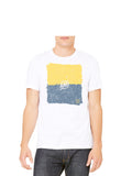 Maize and Blue T-Shirt - White