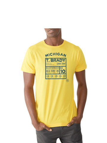 T. Brady Legends T-Shirt - Michigan Maize
