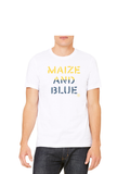 Vintage Maize and blue T-Shirt - Crisp White