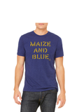 Vintage Maize and blue T-Shirt - Go Blue Triblend