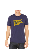 Vintage Michigan Pennant T-Shirt - Michigan Blue