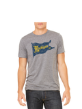 Vintage Michigan Pennant T-Shirt - Classic Grey Triblend