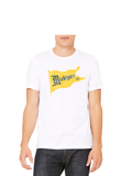 Vintage Michigan Pennant T-Shirt - Crisp White