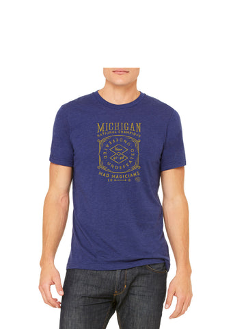 47 National Champs T-Shirt - Go Blue Triblend
