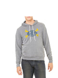 Michigan Football Crossbones Hoodie Grey
